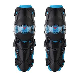 Image 2 - ドゥーハンファッションオートバイ膝パッドモトクロス膝 PC ブレースハイエンド保護具ニーパッドプロテクター