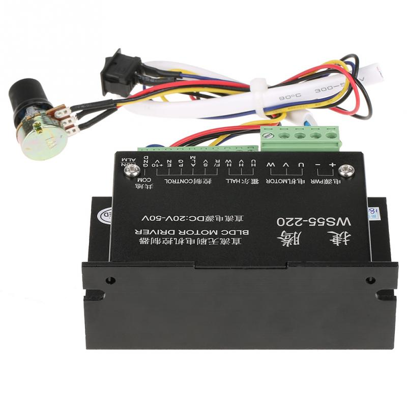 WS55-220 DC Motor Driver Controller 48V 500W CNC Brushless Spindle BLDC Motor Driver Controller 20000RPM High quality odeon light бра matiso