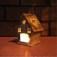 1 Pcs Set The Red House Home Wrought Iron Accessories Romantic Couples Candle Holders