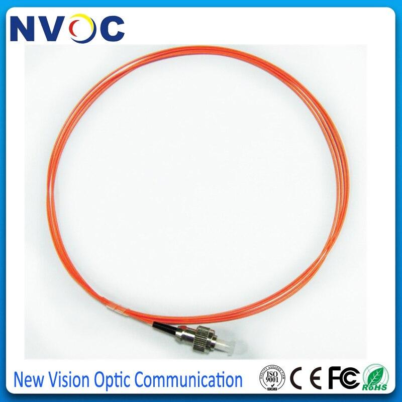 50 шт./лот, 1,5 м 0,9 мм куртка ПВХ мм 50/125 FC UPC волоконно-оптический Pigtail, FC/UPC многомодовый симплексный волоконный свиной хвост/Jumpler кабель