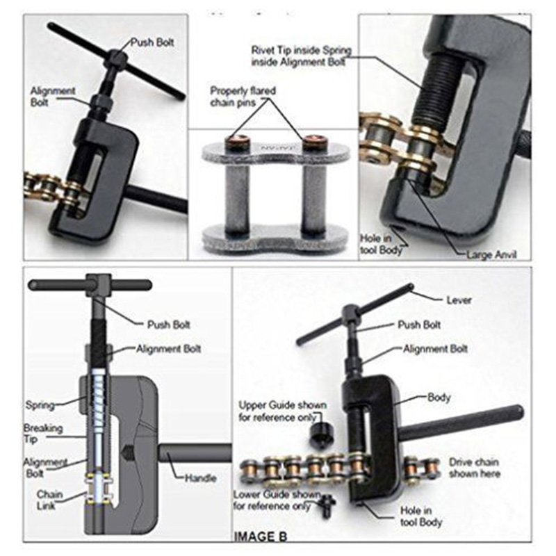 13PC Chain Cutter Rivet Tool Set Riveting Breaker ATV//Bike//Motorcycle//Cam Drive