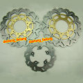 Arashi Front Rear Brake Disc Rotors Set For Suzuki 2008-2011 GSXR 600 750 K8 / 2009-2011 GSXR 1000 K9, Stainless Steel