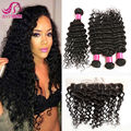 Brazilian Hair With Lace Frontal Closure Deep Wave Brazilian Frontal With Bundles Deep Wave Brazilian Hair With Frontal