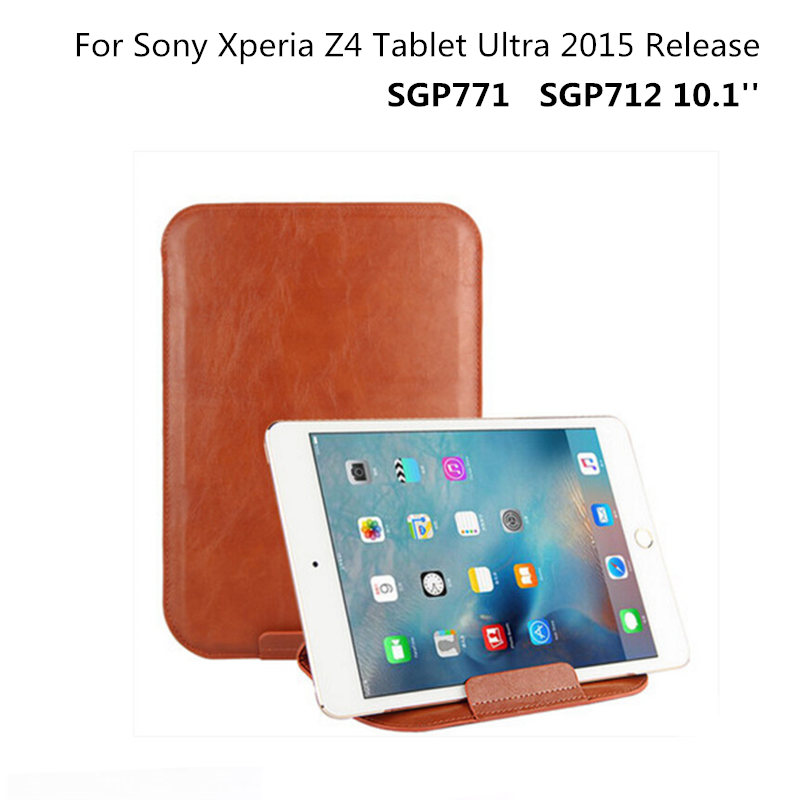 Sleeve Bags Protective cover Stand PU Leather Luxury Case For Sony Xperia Z4 Tablet Ultra 2015 SGP771 SGP712 10.1''  Pouch Bag