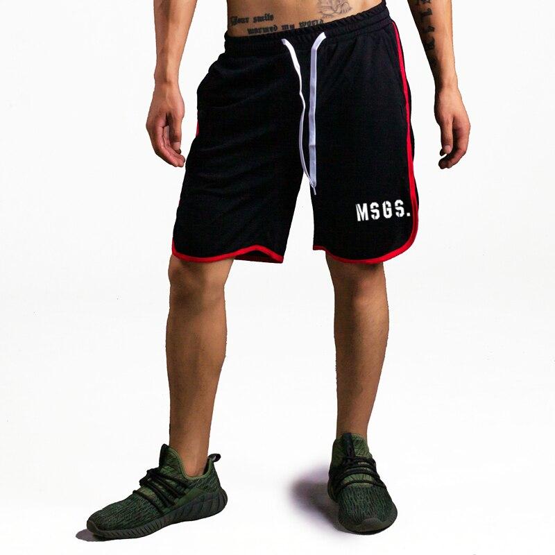 2018 Summer brand fitness shorts men knee length bodybuilding bermuda cargo active shorts Joggers gyms workout sweat short pants