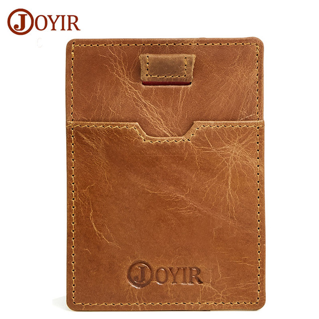 joyir 2017 new slim card holder rfid wallet antitheft credit card wallet thin anti magnetic - Magnetic Card Holder