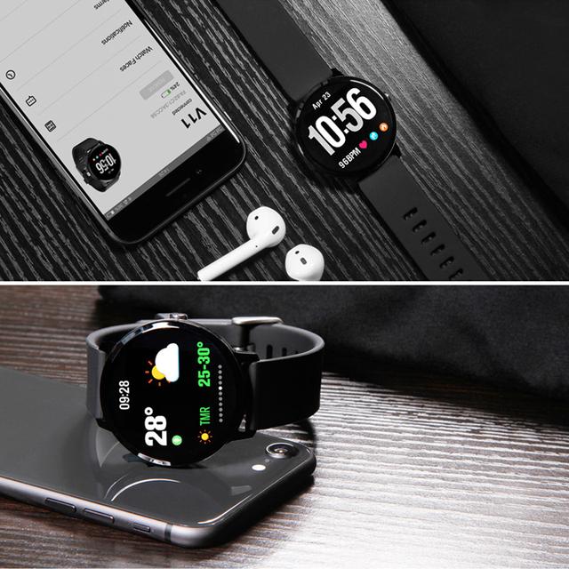 V11 Smart Watch IP67 waterproof Tempered glass Activity Fitness tracker Heart rate Blood Pressure Men women smartwatch