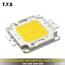 Cob Led Chip 220V 50W 30W 20W 10W High Power Bulb Spot Light For LED Flood Light Bead Spotlight FloodLight Lamp Outdoor Lighting(China)
