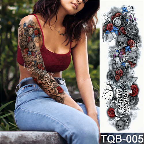 Tatuaje temporal resistente al agua de Calaveras 3