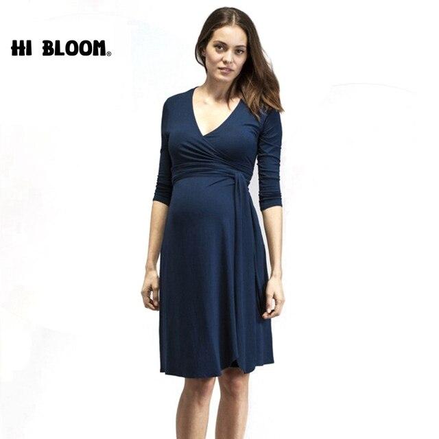 9c453096a Ropa de maternidad vestido lindo vestido de fiesta por la noche para las  mujeres embarazadas elegante