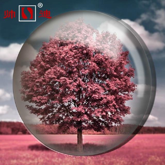 1.56 Non Spherical Resin 1.61 Myopia Glasses 1.67 Slim And Hard Radiation Green Film Eye Astigmatism