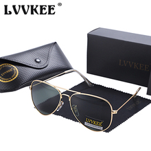 LVVKEE Brand Fashion Pilot Polarized Sunglasses Women/men Classic 60mm Mirror Driving Sun glasses Shades oculos de sol feminino