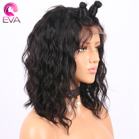 Eva Hair 150 Density Lace Front Human Hair Wigs With Baby Hair Brazilian Wet Wavy Remy