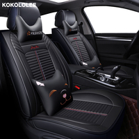 KOKOLOLEE pu leather car seat covers for chery a3 a5 amulet cowin e5 qq6 tiggo 3 5 7 fl t11 auto accessories car styling