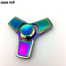 New Pattern Colorful Torqbar Alloy Hand Tri-Spinner Fidgets Toy EDC Sensory Fidget Spinners For Autism And Kids/Adult Fun Toys