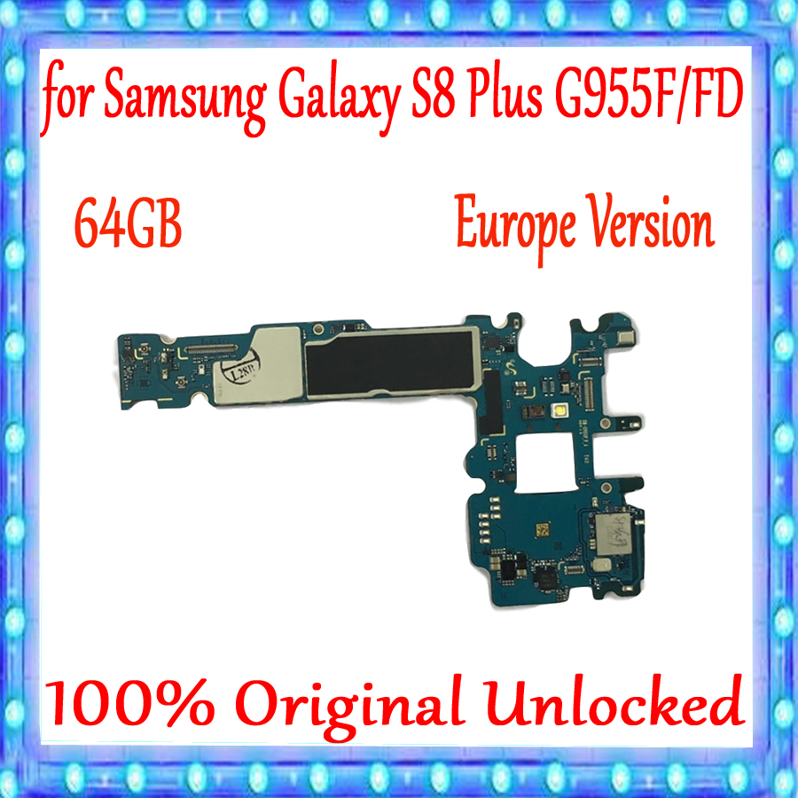 100% Original débloqué pour Samsung Galaxy S8 Plus G955F G955FD carte mère 64 GB, avec système Android Version EU
