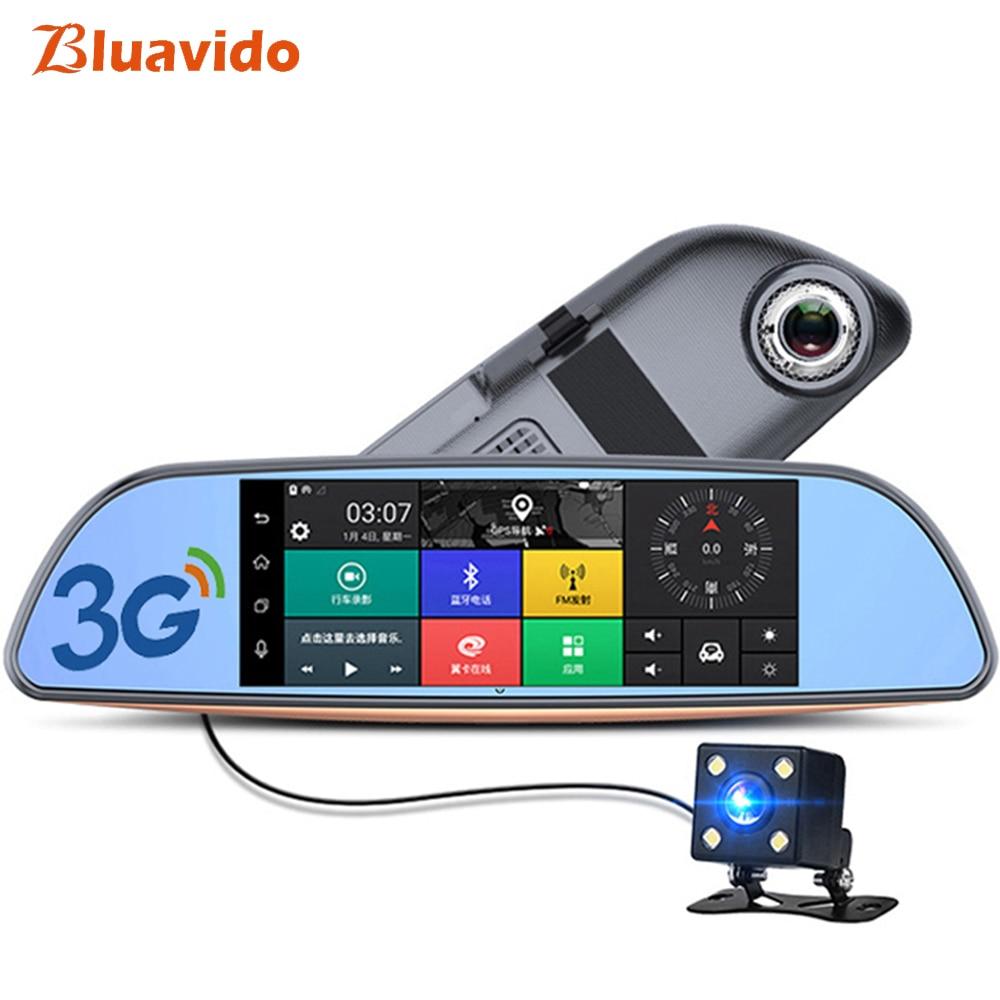 Bluavido 7 Inch 3G Car Rearview mirror DVR Android GPS Navigator full hd 1080P video Camera recorder WiFi Bluetooth car detector plusobd car recorder rearview mirror camera hd dvr for bmw x1 e90 e91 e87 e84 car black box 1080p with g sensor loop recording