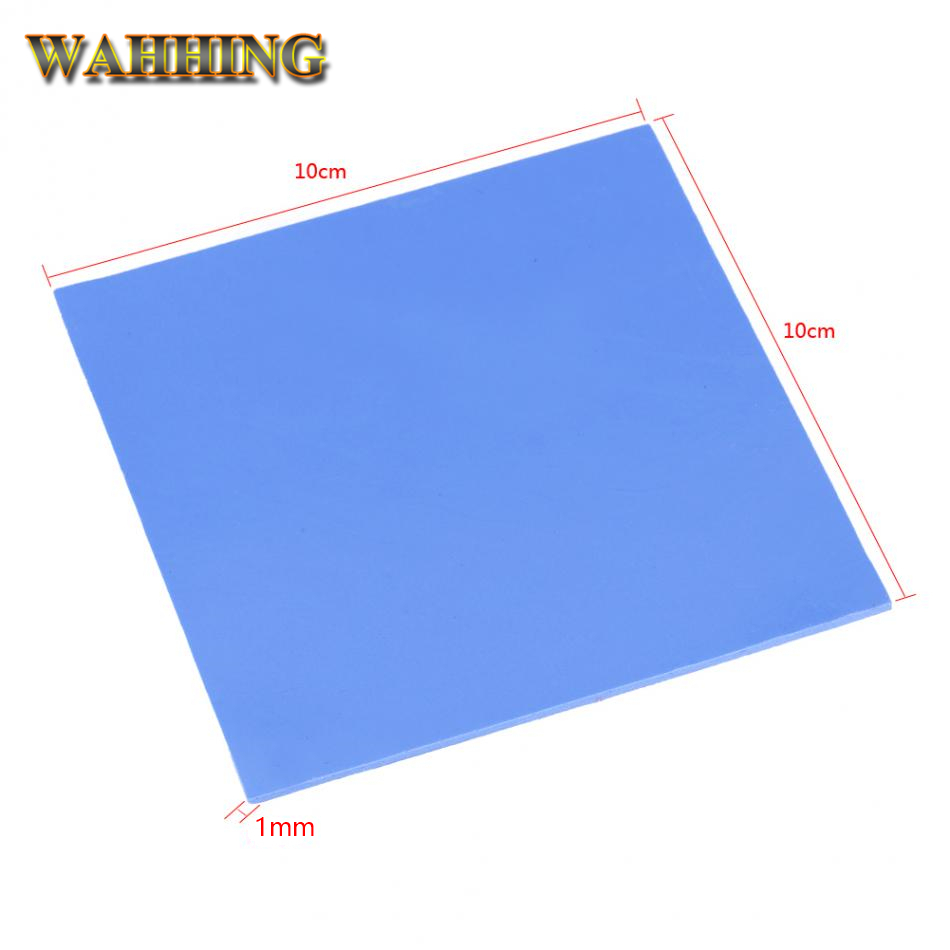 New GPU CPU Heatsink Cooling Conductive Silicone Pad 100mm*100mm*1mm Thermal Pad 10cm*10cm Blue High Quality HY1567 300x300x0 025mm high heat conducting graphite sheets flexible graphite paper thermal dissipation graphene for cpu gpu vga