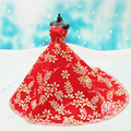 1PCS Doll Accessories Princess Dress Clothes Elegant Lace Multi Layers Wedding Dress For Doll Luxury Floral Dolls Accessories