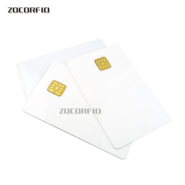 100pcs/lot SLE5528/SLE4428 con hi-co hico banda magnetica compatibile SLE4428 ISO 7816 smartcard sicuro blank smart IC card 2