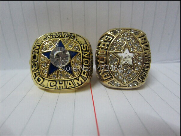 Free Shipping 1971 1992 Dallas Cowboys Championship Ring Gift Solid Together Solid