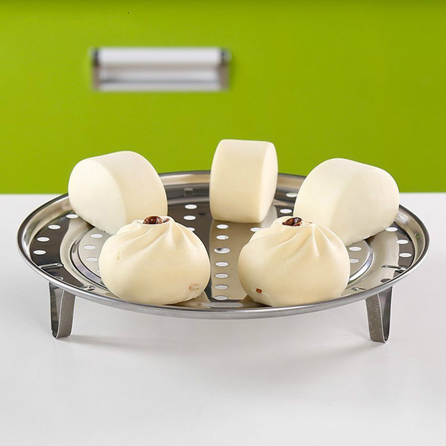 Multi Function Stainless Steel Steaming Rack Three Feet Steamed Buns Steamed Steamed Bread Water Separator Steamed Slices