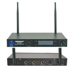 Image 2 - Freeboss micrófono profesional de doble canal para FB VM02, sistema de Karaoke con carcasa de Metal, inalámbrico para fiesta familiar