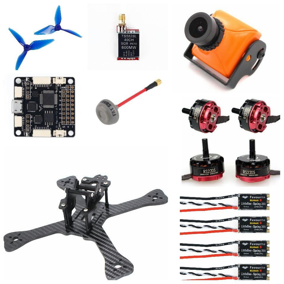 ARF TX5 210 FPV Racing Drone Quadcopter LittleBee BLHeli_S 20A DSHOT ESC F3 F4 Emax RS2205 2300KV 5051 Prop Eachine Wizard X220 5 tx 210 fpv racing drone quadcopter emax r2205s 2300kv f4 flight control littlebee blheli s esc dshot spring 30a 5051 props