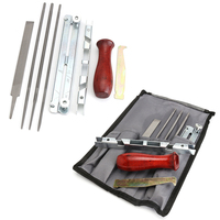 8PCS Chain Saw Sharpening Kit Guide Bar File Instruction Chainsaw File Tool Set For Garden Tools