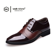 2017 European Fashion Style Genuine Leather Men Dress Shoes Man Wedding Classic Business Social Sapato Male Lace-Up Oxfords Flat