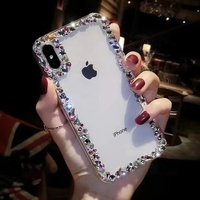 SS 2018 New Diamond Transparent Silica Gel TPU Soft Shell For IPhone X Case For IPhone