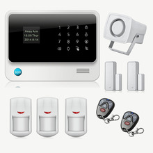 Etiger Wireless GSM Home Security Alarm System 2.4G WiFi Alarm System IOS Android Control Motion Sensor Alarm