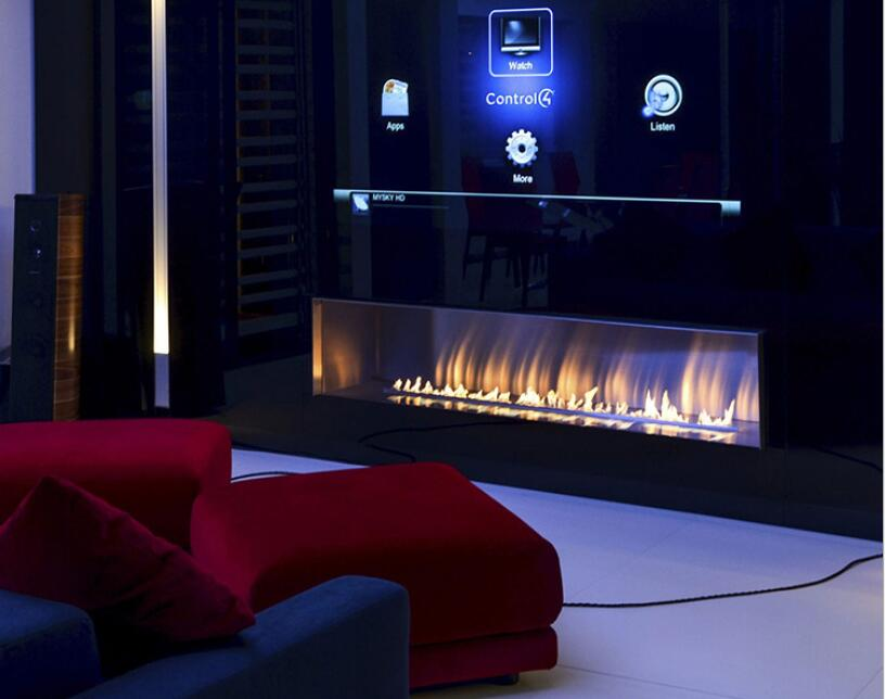72  Inch Real Fire Intelligent Smart Ethanol Electric Fireplace Insert Heater