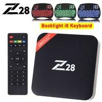 Z28 Android 7.1 Smart TV Box Rockchip RK3328 Quad core Cortex A53 2 GB 16G Android TV Box H265 4 Karat 2 Karat USB 3.0 WiFi Media Player