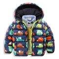 2016 Nuevos de Invierno Gruesa niños chaquetas niños Abrigos Cuello Con Capucha Niños prendas de Vestir Exteriores de Algodón Acolchado Boy Snowsuit