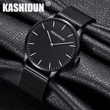KASHIDUN. Men's Large Face Military Wrist Watch Waterproof Luxury Casual Luminous Simple Army Watch Mesh Steel relogio masculino