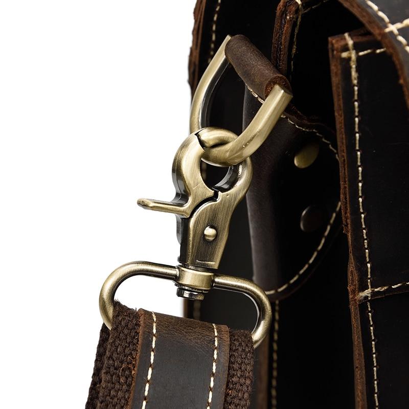 "HTB136BOXtfvK1RjSspoq6zfNpXaJ Vintage Men's Genuine Leather briefcase 16"" Cowhide Business bag Cow leather Laptop Double Layer messenger bag PC work tote"