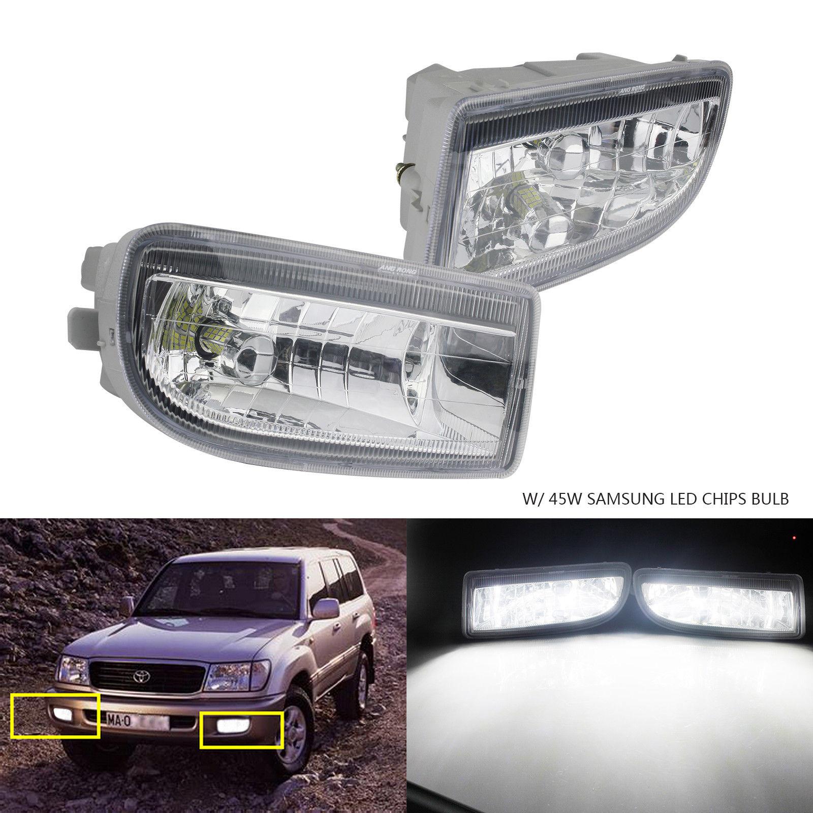ANGRONG 2x Blanc SAMSUNG 45 w 2000LM HB4 9006 Brouillard Lumière LED Ampoules Pour Toyota Land Cruiser Amazon FJ100/ FJ105 1998-2