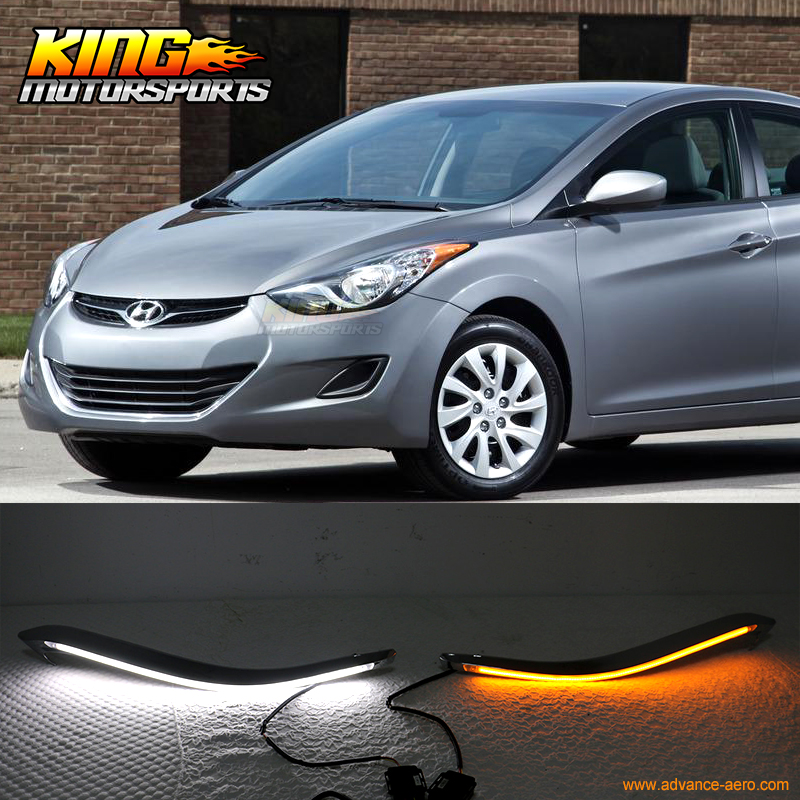 for 2009 2013 hyundai elantra led eyebrow drl headlight. Black Bedroom Furniture Sets. Home Design Ideas