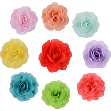 1PC  2PCS Fashion Color Hairpin Girls Girls Chiffon Hair Flowers Clips For Headband Rose Fabric For Craft Hair Accessories