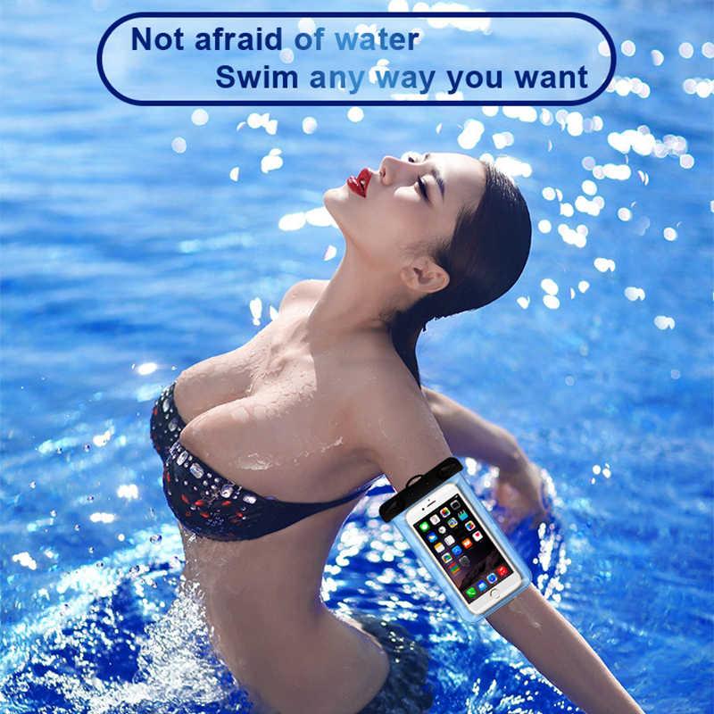 غطاء هاتف مضاد للماء تعويم المياه برهان الحقيبة المحمول خلية حقيبة جافة ل شاومي سامسونج آيفون هواوي الشرف 20 ملحقات الهاتف الذكي
