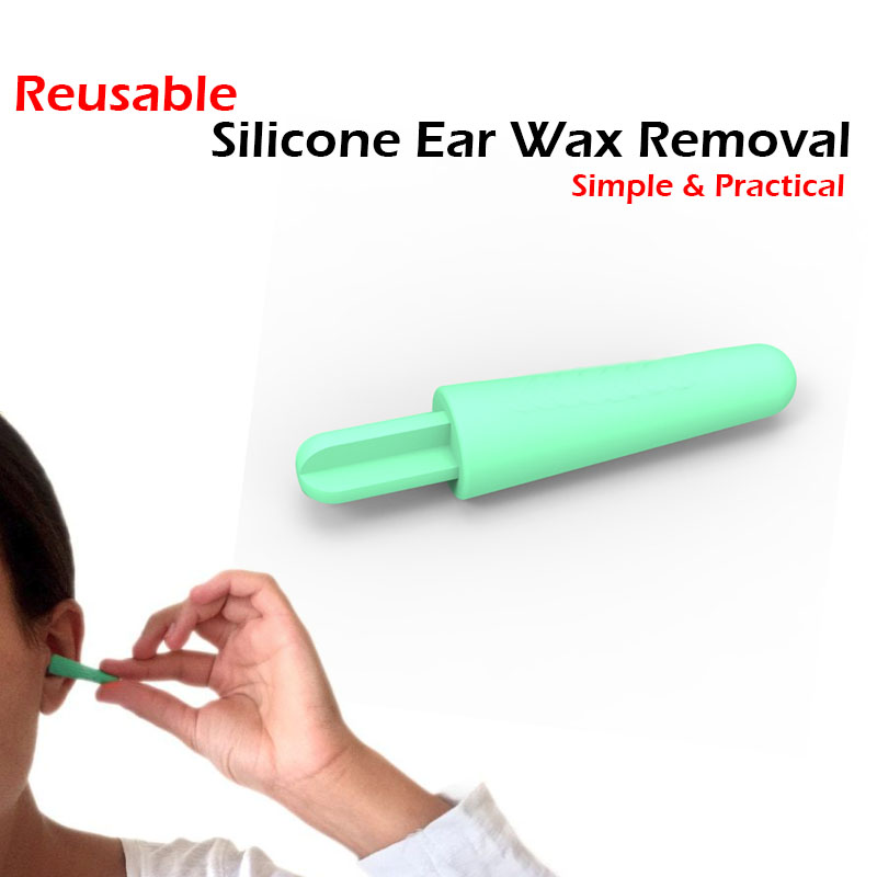 1 PC Silicone Ear Wax Removal Reusable Soft Spiral Ear Pick Hygiene Care Kits Ear Cleaning Tool Personal Protection