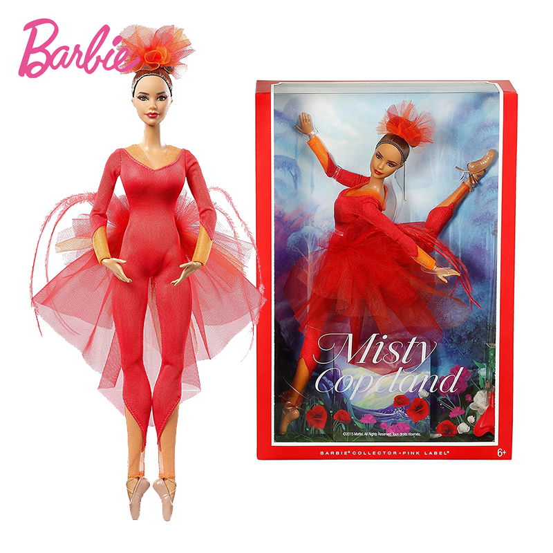 New Original Barbie Doll Misty Copeland Barbie Colletor Pink Label Actionr Toy Girl Birthday Present Girl Toys Gift Boneca DGW41