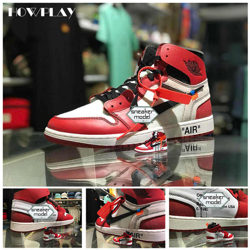 new arrivals 72fae 91dd8 Howplay AJ1 OW 3D keychains Off White Joint Collection mini Sneakers Model  Shoes Creative Gifts for Air jordan Basketball Fan