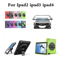 Kids Safe With Hand Strap Case For Apple Ipad 2 Ipad 3 4 Amor Heavy Duty