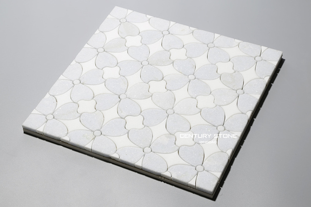 Century Mosaic Home Decor Mosaic Tile White Marble Mosaic Tile First Class Quality Free Shipping Mosaic