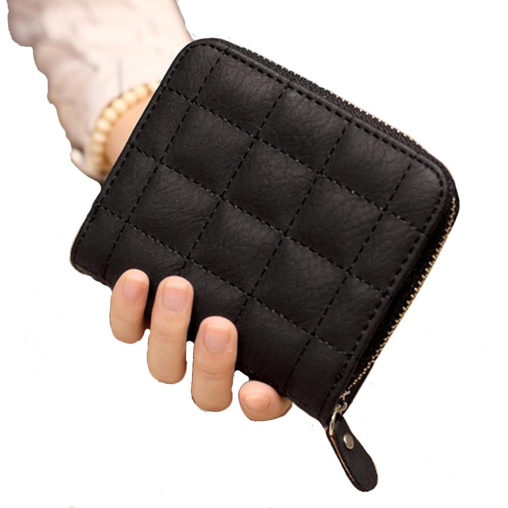 0aa1c253fd90 Oeak Women Blocking Small Compact Bifold Leather Pocket Wallet Ladies Mini  Purse Zipper Cute Wallet Student Short