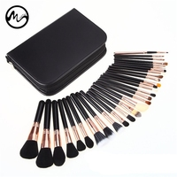 MINCH High Quality 29 Pcs Makeup Brushes Professional Face Lip Cosmetic Brush Set With Case Nature