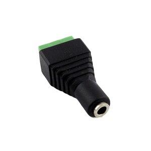 """Image 3 - 2 szt. 3.5mm 1/8 """"Stereo żeńskie gniazdo do AV śruba wideo AV Balun wtyczka terminalowa adapter złącza"""