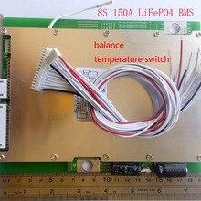 8 S 150A LiFePO4 BMS/PCM/PCB плата защиты батареи для 8 упаковок 18650 батареи ячейки w/баланс w/темп